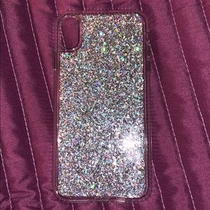 Sliver Glitter Iphone Xs Max Case
